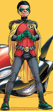 Damian as robin