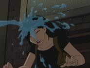 Yin gets sprayed by joker