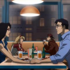 Diana y Clark en su cita.