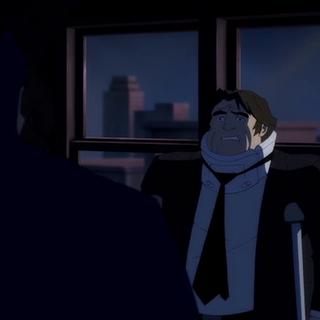 Batman amenaza al delincuente