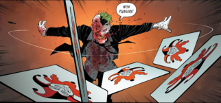 Throwing cards New52