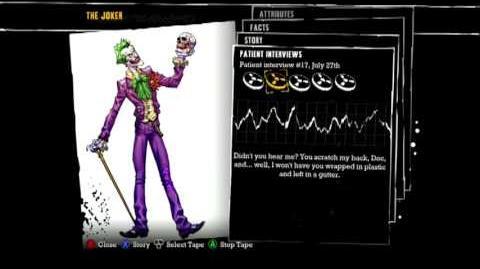 Batman Arkham Asylum - Patient Interview Tapes of The Joker