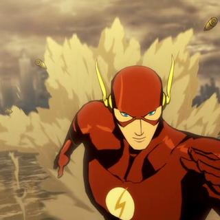 Flash esquivando las balas