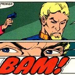 Adeline le dispara a Slade y alcanza su ojo