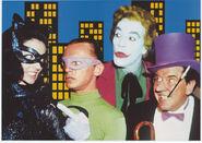 Joker, Penguin, Riddler and Catwoman