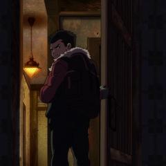 Damian regresa a casa.