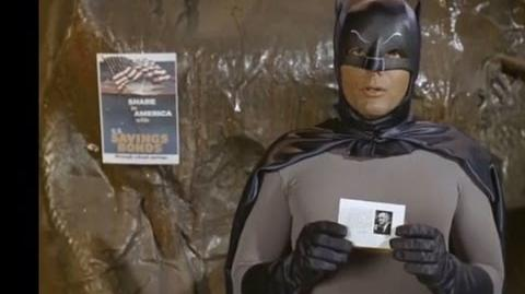 Batman Promotes US Savings Bonds To Kids - For Lyndon Johnson 1960s