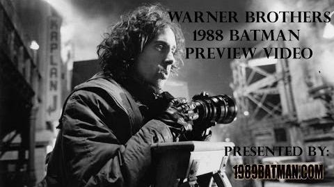 1989Batman.com Warner Brothers 1988 Batman Preview Video RARE Making Of 1989