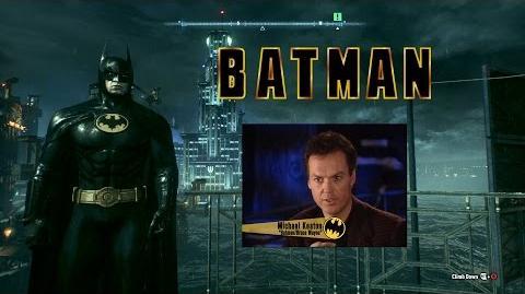 Batman Arkham Knight - 1989 Batman Skin (Michael Keaton) Gameplay