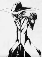 Gunman scarecrow