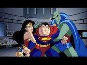 Superman, Wonder Woman, Martian Manhunter