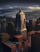 Gotham City Painting by John Calmette