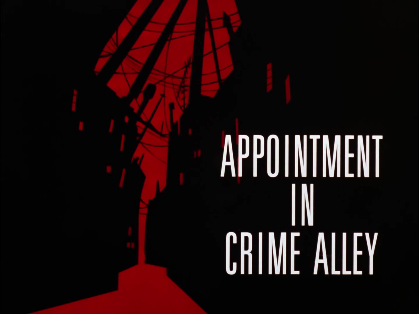 Image result for appointment in crime alley title card