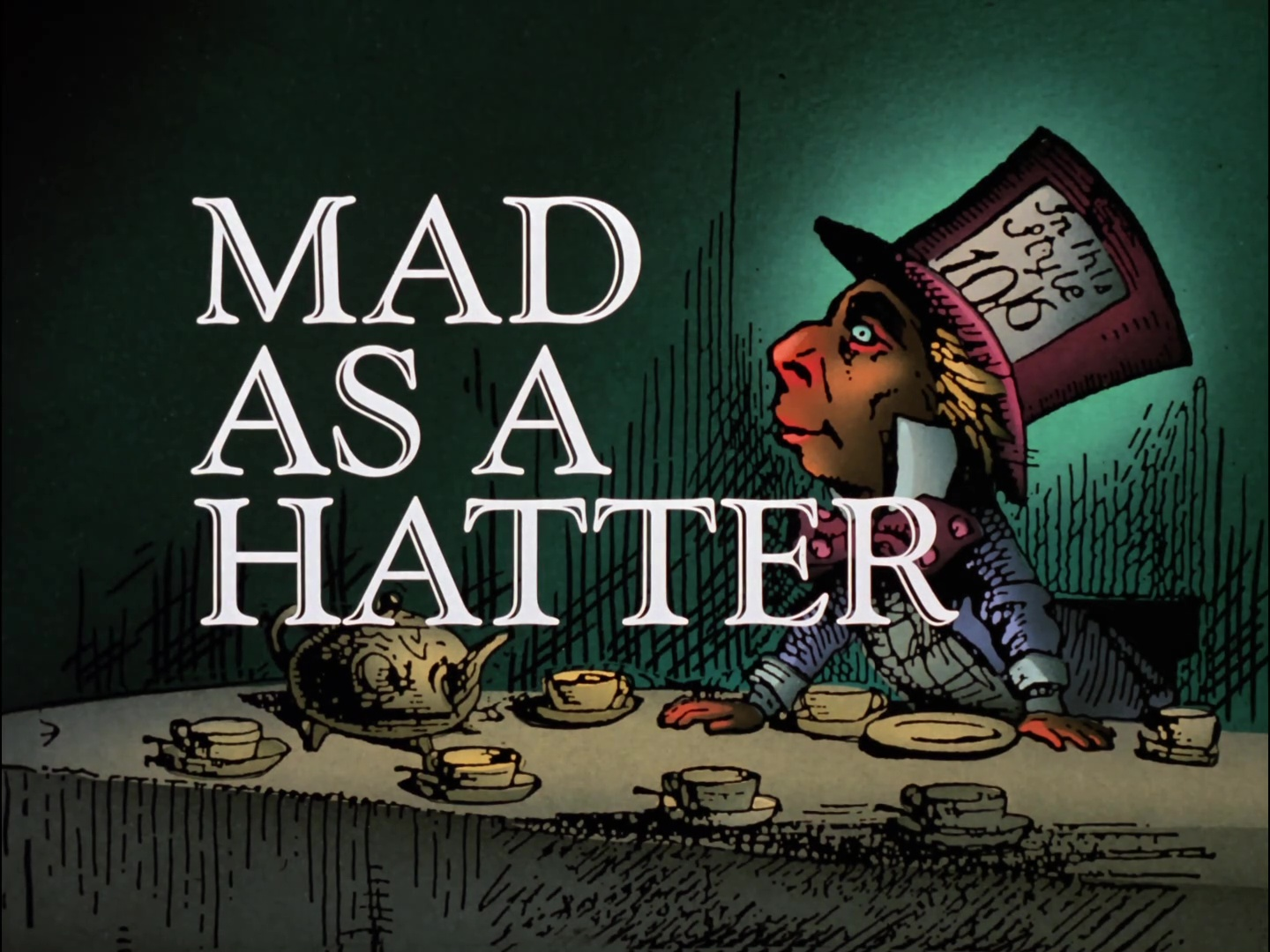 Image result for mad as a hatter title card