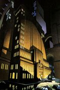 GCPD Headquarters at night by Richie Chavez & Steve Butz