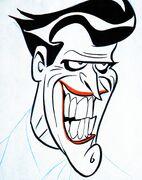 Early Joker Design by Bruce Timm