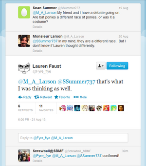 406771 safe lauren faust bat pony twitter word of faust