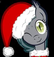 Santa grey mouse by vectorvito-d6zcavq