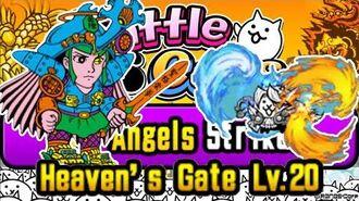 Solo Elemental Duelist The Angels Strike!, Heaven's Gate Lv.20 Battle Cats