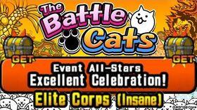 Fast 1,000,000 XP Farm Excellent Celebration, Elite Corps (Insane) Battle Cats