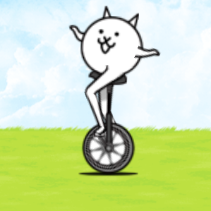 Unicycle cat