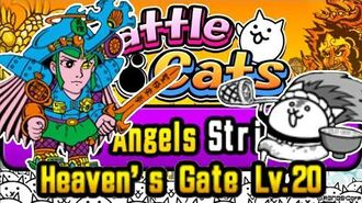 Easy CPU Strategy The Angels Strike!, Heaven's Gate Lv.20 Battle Cats