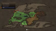 Iron post location world map