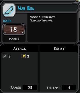 War Bow profile
