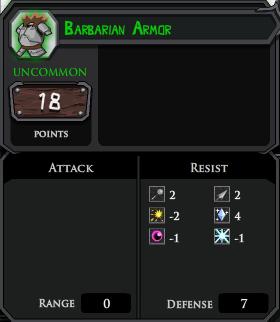 Barbarian Armor profile
