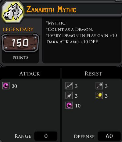 Zamaroth Mythic profile
