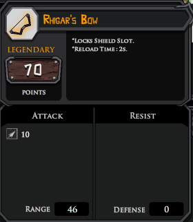 Rhigars Bow profile