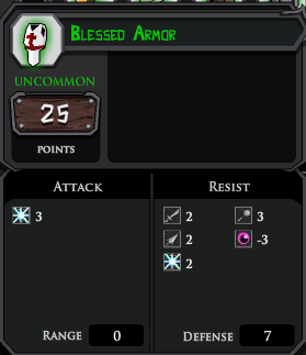 Blessed Armor profile