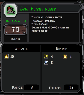 Giant FlameThrower profile