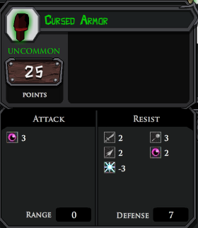Cursed Armor profile