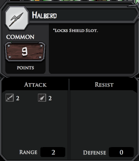 Halberd profile