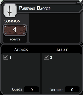 Parrying Dagger profile