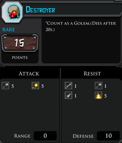 Destroyer profile