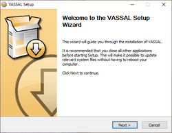 Welcome to the Vassal Setup Wizard