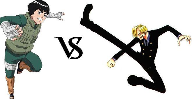 Rock Lee vs. Sanji