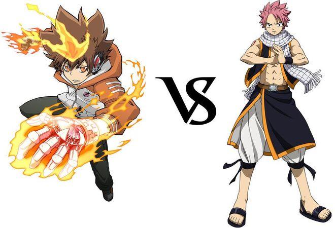 Tsuna vs. Natsu