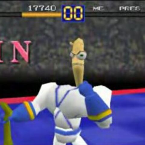 Earthworm Jim from <i>Battle Arena Toshinden</i>