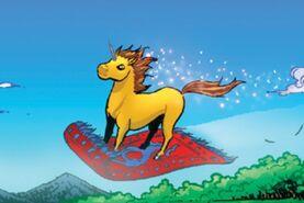Unicorn on carpet