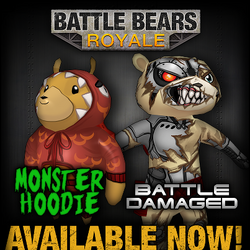 Monster Hoodie Battle Damaged