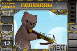 Weapon selected- crossbow