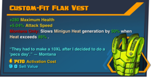 Custom-fit-Flak