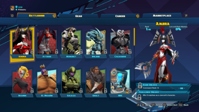Battleborn Command Window Characters