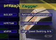 Kegger stats 2.0