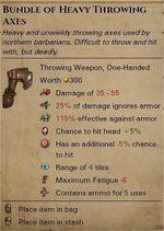 Heavy throwing axes 0