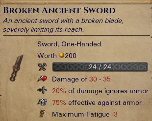 Broken Ancient Sword
