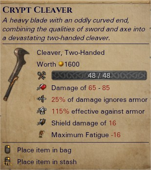 Crypt cleaver 0
